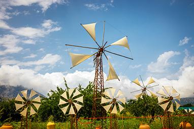 Crete - Agios Nikolaos -Windmills in Seli Ampelou
