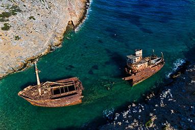 Cyclades-Αμοργός - Ναυάγιο Ολυμπία