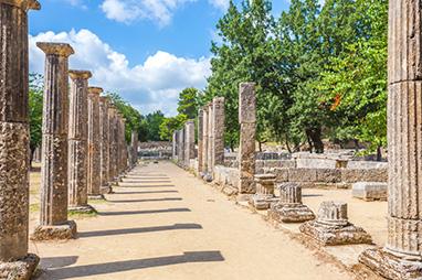Peloponissos-Ancient Olympia - Naos tou Dia
