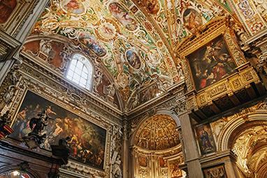 Italy-Bergamo-Basilica di Santa Maria Maggiore