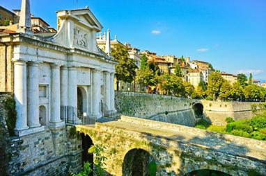 Italy-Bergamo-Fortified city of Bergamo