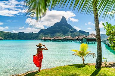 French Polynesia-Bora Bora-Όρος Otemanu