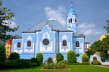 Slovakia - Bratislava - Blue Church