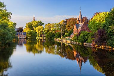 Belgium-Bruges-Στη λίμνη του Minnewater