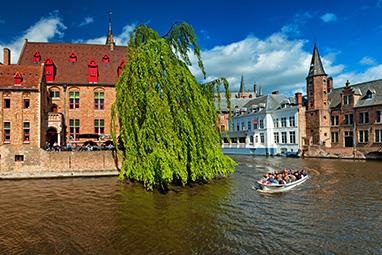 Belgium-Bruges-Περιηγηθείτε στα κανάλια