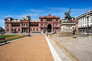 Argentina-Buenos Aires-Plaza de Mayo and Casa Rosada