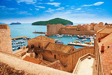 Croatia-Dubrovnik-Τείχη του Ντουμπρόβνικ