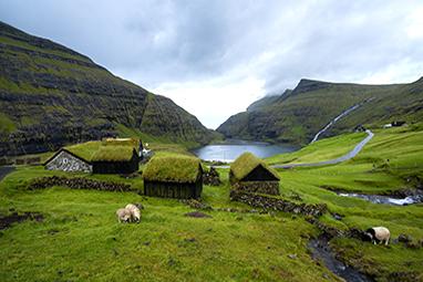 Denmark - Faroe Islands - Χωριό Saksun