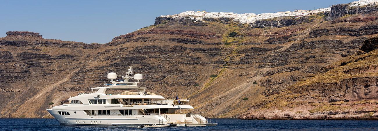 Greek islands cruise with a Mega Yacht