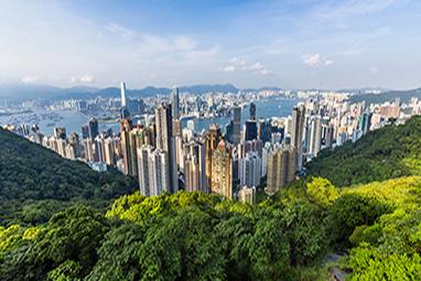 China - Hong Kong - Hong Kong Skyline