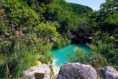 Peloponissos-Kalamata- Waterfalls of Polylimni