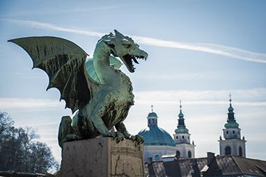 Slovenia - Ljubljana - Dragon Bridge