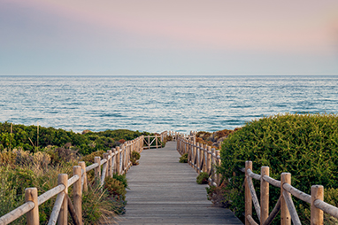 Spain-Marbella-Cabopino Beach