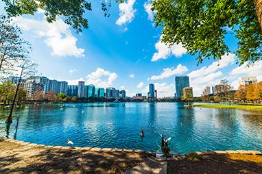 Florida-Orlando-Lake Eola Park