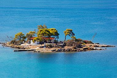 Saronic Islands - Poros - The islet of Daskalio