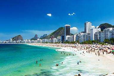 Brazil-Rio de Janeiro-Copacabana Beach