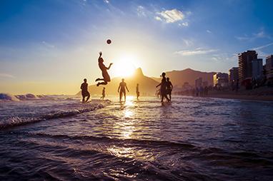 Brazil-Rio de Janeiro-Ipanema Beach