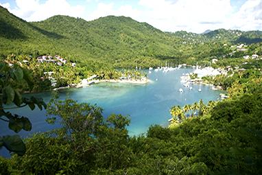 Caribbean-Saint Lucia-Marigot Bay