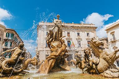 Italy-Syracuse-Piazza di Archimede