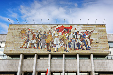 Albania-Tirana-Εθνικό μουσείο