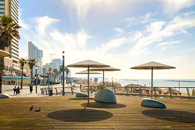 Israel-Tel Aviv-The beach promenade