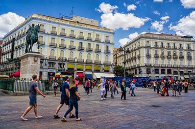 Spain-Madrid-Plaza Puerta del Sol