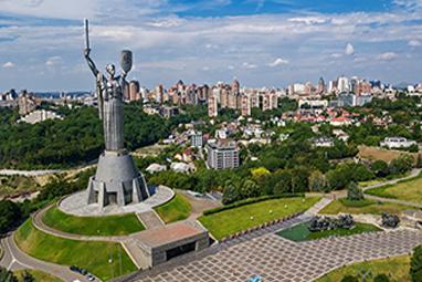 Ukraine-Kiev-Άγαλμα «Μητέρας Πατρίδας»