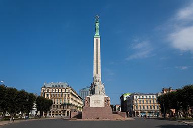 Latvia-Riga-Liberty statue